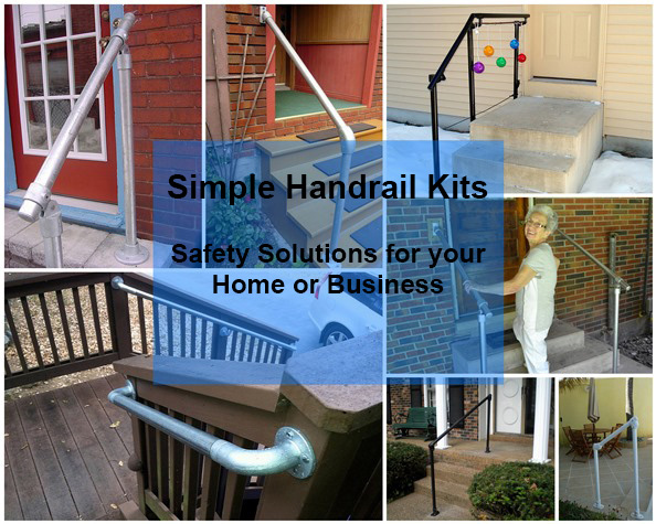 simple handrail for ramp or steps