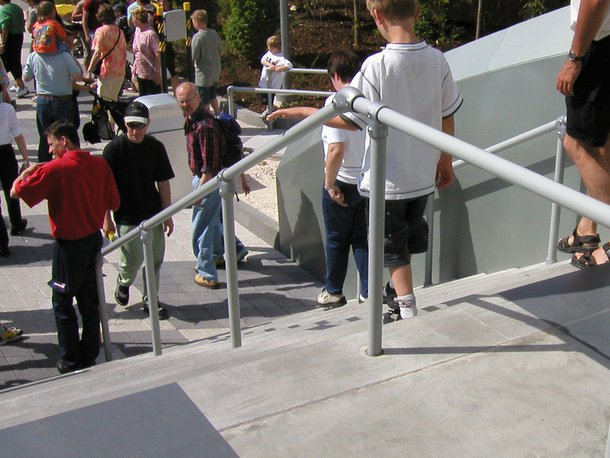 Handrails for Crowd Management