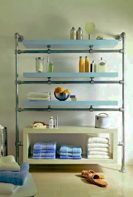 custom shelf with fittings